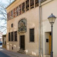 Aussenansicht, Frühling, Sonne, Geburtshaus, Reformator Dr. Martin Luther, Ausstellung